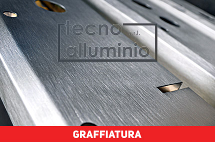 graffiatura superficiale alluminio, graffiare alluminio